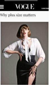 Vogue nails it! Why plus size matters